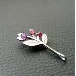 Brož květina s listem