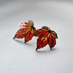 Náušnice  javorový  list